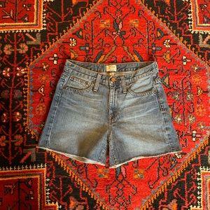 J. CREW Blue Denim Cut Off Shorts